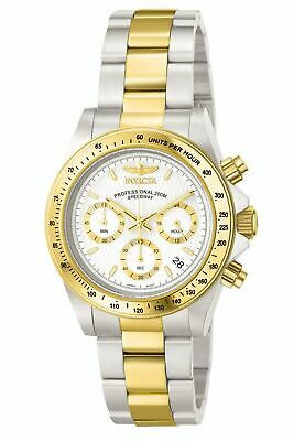 Invicta Men's Speedway Chronograph G S 9212 Gold Stainless-Steel Plated Japan...