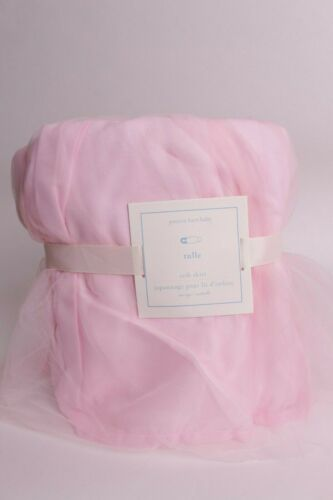 NWT Pottery Barn Kids Pink Tulle Crib Skirt, nursery