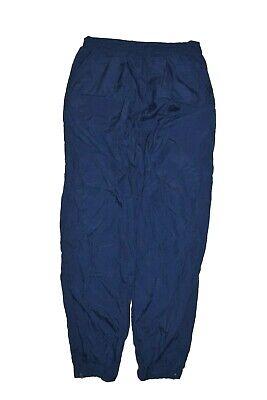 Vintage Nike Track Pants Size L Blue Warm Up Jogger Cuff Nylon Windbreaker Swish