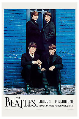 The Beatles * London Palladium * Command Performance Concert Poster 1964
