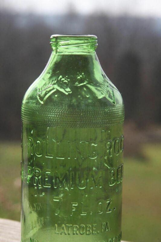 Vintage Embossed Beer Bottle Rolling Rock Latrobe Pa
