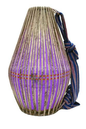 New Purple Professional Mridangam/ khol made of Clay with free cloth cover