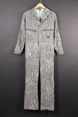 Vintage LIBERTY Real Tree Camouflage Camo Hunting Suit Coveralls USA Mens Medium