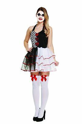 HALLOWEEN FEMALE JESTER EVIL ADULT COSTUME Ladies Fancy Dress Clown  UK - Scary Clown Halloween Costumes Uk