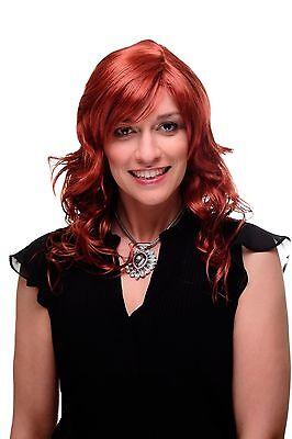 Unwiderstehlich lockige Damen-Perücke Rot Dunkel-Kupferrot 55 cm lang 9669-135