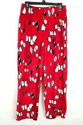 Hue Damen Pyjama Rot Fleece Pinguin Aufdruck Hose GRÖSSE M ()