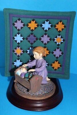EUC! '93 Ltd Ed WILLITTS Amish Heritage Collection #30014 CAROLINE, Girl w/doll