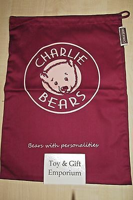 CHARLIE BEARS Drawstring Gift Bag LARGE 54x34cm