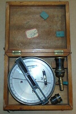 Vintage Hughes Owens Co. Tycos Survey Compass With Carrying Case