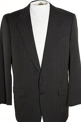 Charcoal Stripe Suit Coat - Hickey Freeman Mens 39R Charcoal Gray Stripe Blazer Jacket Sports Suit Coat
