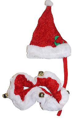 Weihnachtsmütze Halsband Mütze Katzenkostüm Hund Katze Hundekostüm