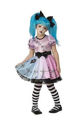 Little Kid Zombie (Little Blue Skelly Skeleton Ghost Doll Zombie Child Girls Costume)