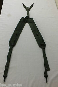 INDIVIDUAL-EQUIPMENT-BELT-SUSPENDERS-OD-LC-2-GENUINE-US-MILITARY-ISSUE-VG-EXC