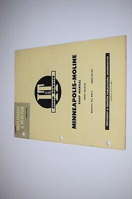 I T Tractor Manual Minneapolis-moline Gb-ub-zb Shop Manual