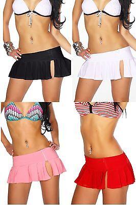 Scharfer Gogo-Rock Minirock Clubwear Röckchen Sommeroutfit Sommermode S-L 12009 ()