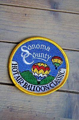 Sonoma County Hot Air Balloon Classic Souvenir Patch