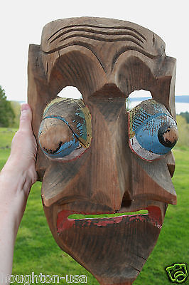 XLG Antique Northwest Coast Canada Indian Kwakiutl People Wasp Spirit Mask!