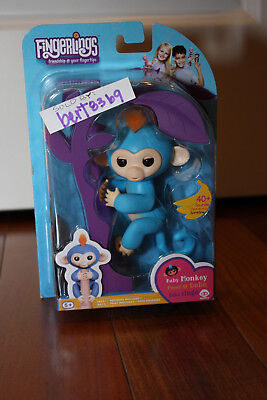 Wowwee Fingerlings  New  Boris Blue Interactive Baby Monkey 2017 With Receipt