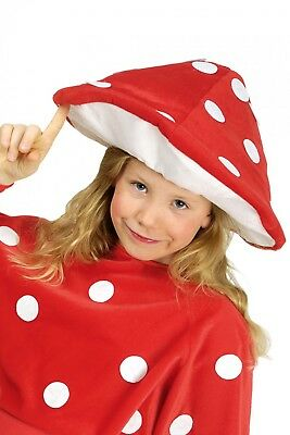Kostüm Pilzhut Hut Fliegenpilz für Kinder Fliegenpilzhut Wald Karneval Fasching