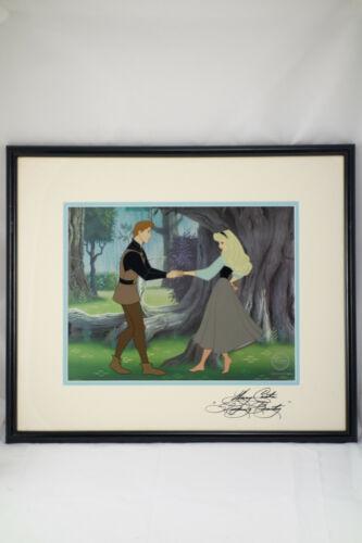 Walt Disney Sericel Cel Art Sleeping Beauty Dream Duet Mary Costa Autograph COA