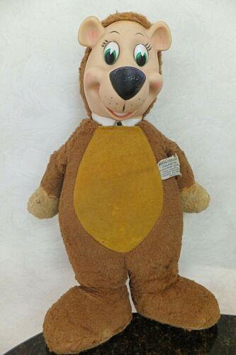"VINTAGE 1959 Huckleberry Hound 18"" Stuffed Yogi Bear Knickerbocker Toy Company"