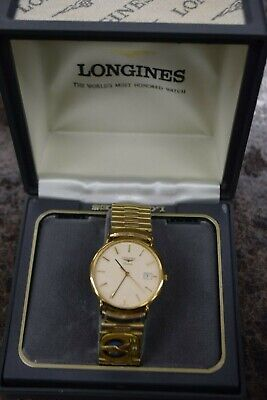 LONGINES Quartz watch 3-65 Pratt & Whitney (Watch is engraved) With Box WORKING