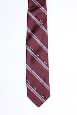 PSA Vintage Necktie Brown Stripe Pacific Southwest Airlines New Crew Staff Gift