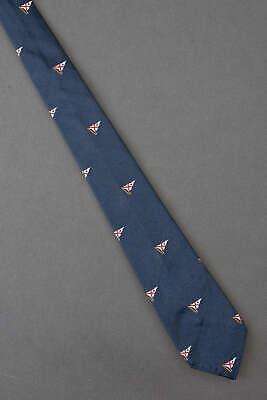 1950s Men's Ties, Bow Ties – Vintage, Skinny, Knit Nautical Flags - 1950's Skinny Narrow Thin Navy Boys Kids Tie Necktie $24.99 AT vintagedancer.com