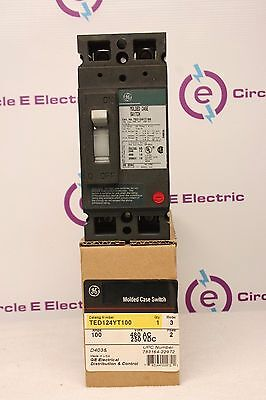 Ge Ted124yt100 Breaker 100 Amp New In Box