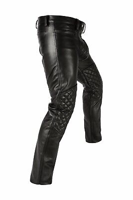 Schwarze Napa Leder (7800 AwANSTAR,Padded Lederhose,Gepolserte leder hose napaleder,leather trousers,)