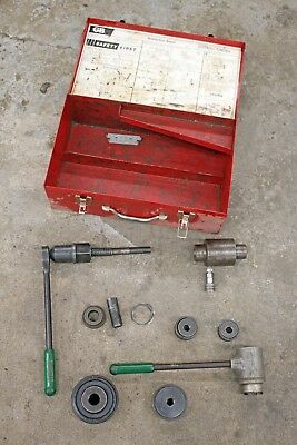 Greenlee Hydraulic Ram 746 Ratchet 1904 Knockout Driver Punch Set 1-14 3-12