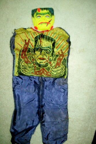 "Vintage ""Monster"" Halloween Costume (Frankenstein) by Ben Cooper In Original Box"