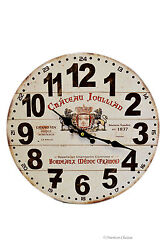 14 French Chateau Vintage-Style Wine Label Wall Clock Kitchen Home Decor