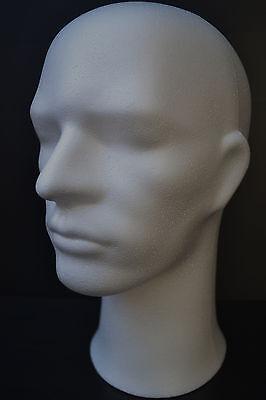 Male Foam Wig Head Styrofoam Mannequin Hat Mask