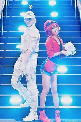 [Ships from US] Cells At Work Red Blood Cell Whole-set Costume With - Costume With Boots