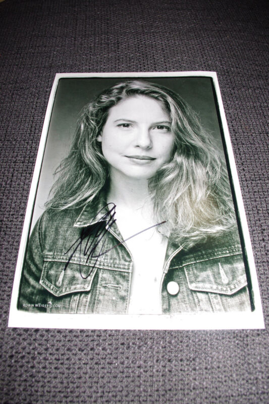 ROBIN WEIGERT signed SEXY 8x12 inch autographed Photo InPerson in Berlin LOOK