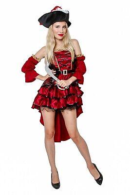 Female Pirate Adult Buccaneer Caribbean Fancy Dress Halloween Costume Cosplay