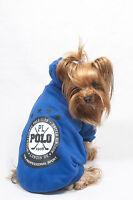 Felpa Blu Polo Club Per Cane - Vestito Dolce Cucciolo - Tg.s- Abbigliamento Cani -  - ebay.it