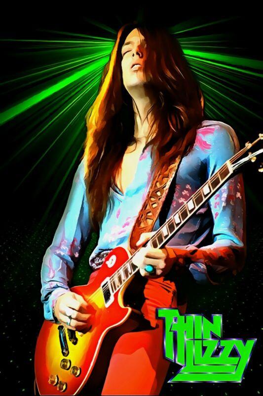 "Thin Lizzy Poster Art ""Emerald"" Scott Gorham Large 20x30 Print Free Shipping!"