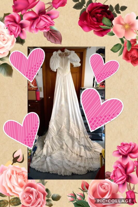 Approximately Size 12 Wedding Gown From 1980's