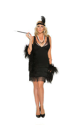 Sexy 2PC Flapper Dress Women's Halloween Costume by EM. Plus Size Too!
