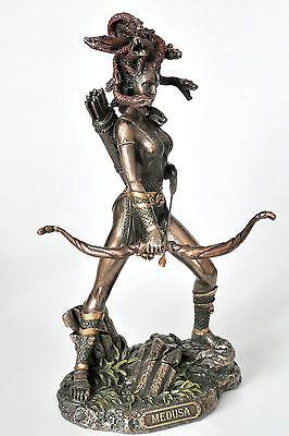 schlangen,pfeil und bogen,medusa,bronziert,19x10cm,mythos,griechische mythologie