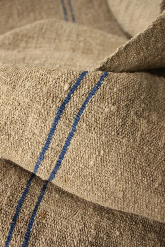 Antique fabric thistle cloth HEAVY NUBBY SLUBBY hemp PRIMITIVE 2.5X23wide