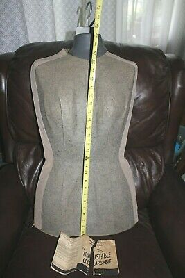 Vintage Female Mannequin Adjustable Seamstress Dress-form W Metal Stand 1960s