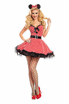 Sexy Adult Halloween Party King Women's Missy Mouse Costume w Ears](Missy Mouse Halloween Costume)