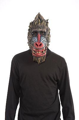Baboon Mask Gorilla Monkey Babboon Latex Animal Costume Face Head Adult Mens NEW](Baboon Costume)