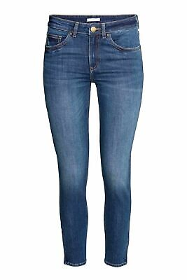 Ladies Ex Zara New Woman Sand wash Blue Denim Spandex Jeans Trouser