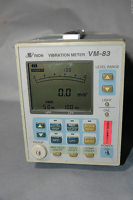 Rion Vm-83 General-purpose Acceleration Velocity Displacement Vibration Tester