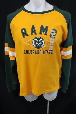 NWT CSU COLORADO STATE RAMS Sewn On KNIGHTS APPAREL Crew Neck Thick SHIRT L Colorado State University Clothing