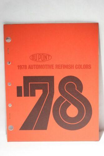 Vintage DuPont 1978 Automotive Refinish Colors Book